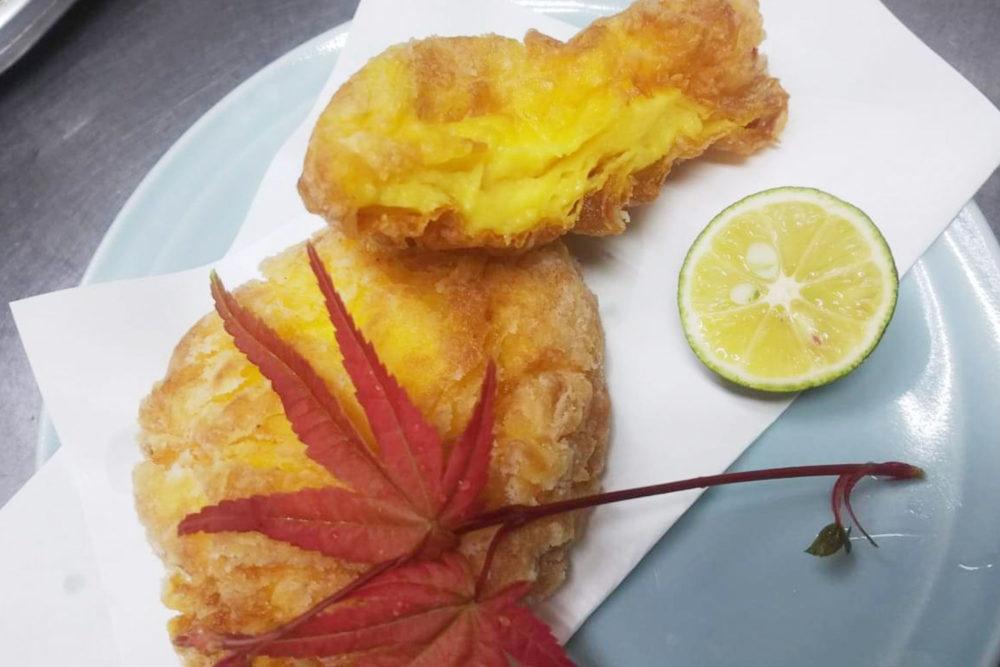 風流 佐倉産旬菜の真薯揚げ